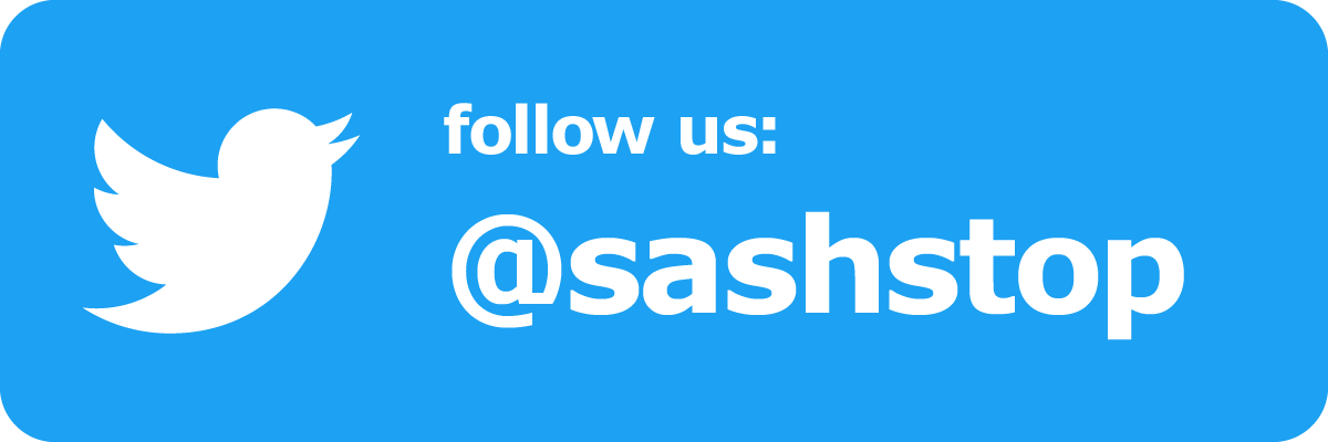 Follow SashStop on Twitter